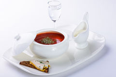 Borscht with beet Royalty Free Stock Photography