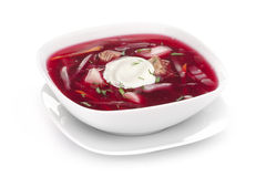 Borscht beetroot soup Stock Photo