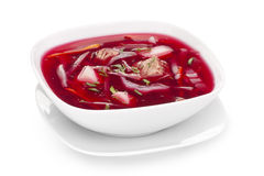 Borscht beetroot soup Royalty Free Stock Images