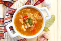 Borscht, beetroot soup Stock Photography