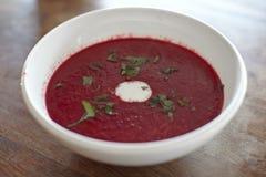 Borscht de la sopa de la raíz de la remolocha Fotografía de archivo