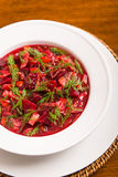 Borscht with Dill Stock Image
