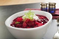 Borscht-Mangoldsuppe Lizenzfreies Stockfoto