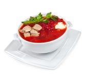 Borscht - minestra della barbabietola Fotografia Stock