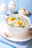 Borscht para Easter. Culinária polonesa Imagem de Stock