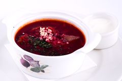 Borscht. Russian and Ukrainian soup Stock Photography