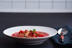 Borscht/russische Suppe Stockfoto