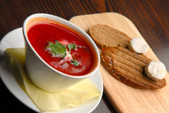 Borscht soup Stock Image