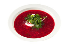 Borscht Soup. On a white background Stock Photography