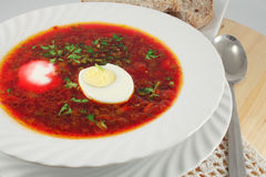 Borscht, Soup with red beet Stock Photography