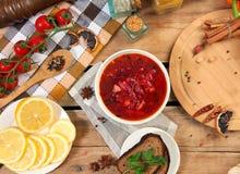 Borscht soup Stock Photos