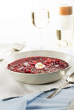 Borscht on Table Royalty Free Stock Image