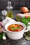 Borscht, traditional ukrainian beetroot vegetable soup royalty free stock photo