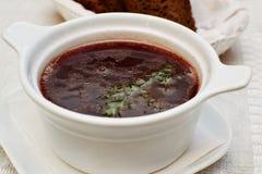 Borscht vermelho Foto de Stock Royalty Free