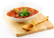 Borscht vermelho caseiro Fotografia de Stock