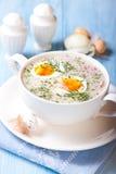 Borscht voor Pasen. Poolse Keuken Stock Afbeelding