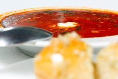 borschtbullar lagar mat med grädde surt royaltyfri foto