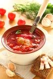 Borschtsch, ukrainische Küche. Lizenzfreie Stockfotografie