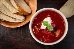 Borschtsoppa Royaltyfria Bilder
