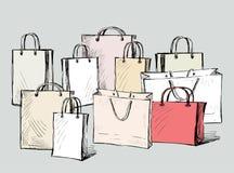 borse degli acquisti Fotografie Stock Libere da Diritti