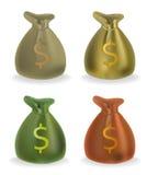 Borse dei soldi Immagine Stock Libera da Diritti