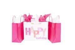 Borse del regalo di buon compleanno Fotografie Stock