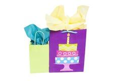 Borse del regalo di compleanno Immagine Stock