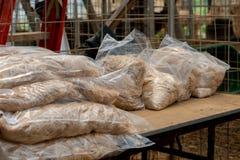 Borse del vello dell'alpaga pronte per la vendita Fotografia Stock Libera da Diritti