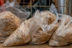 Borse del vello dell'alpaga pronte per la vendita Immagini Stock Libere da Diritti