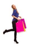 Borse di acquisto di trasporto della donna Immagine Stock