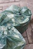 Borse di immondizia sulla via Ricicli i rifiuti Pulisca l'ambiente Fotografie Stock Libere da Diritti