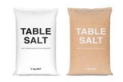 Borse di sale da tavola rappresentazione 3d illustrazione di stock