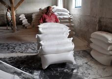 Borse di usura dei lavoratori di farina Immagine Stock Libera da Diritti