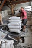 Borse di usura dei lavoratori di farina Fotografia Stock Libera da Diritti