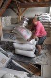 Borse di usura dei lavoratori di farina Fotografie Stock