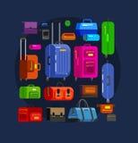 Borse di viaggio Valigia dei bagagli Immagine Stock Libera da Diritti