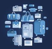 Borse di viaggio Valigia dei bagagli Fotografie Stock Libere da Diritti