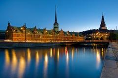 Borsen giełdy papierów wartościowych budynek w Kopenhaga, Dani Obraz Stock
