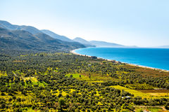 Borsh beach in Albania. Borsh beach with beautiful landscape in Albania Stock Image