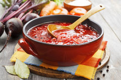 Borsh. Russian traditional dish Royalty Free Stock Image