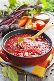 Borsh. Russian traditional dish Stock Photo