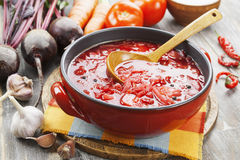 Borsh. Russian traditional dish Royalty Free Stock Photo
