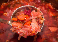 Borshch in a pan. Royalty Free Stock Photo