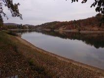 Borsko Jezero, lago vicino a Bor, Serbia Fotografia Stock Libera da Diritti