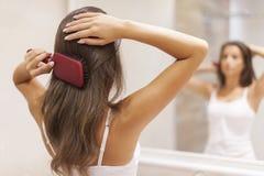 Borsta hår Royaltyfri Foto