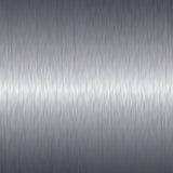Borstad aluminium bakgrund för metallplatta Royaltyfria Bilder