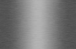 borstad blank textur för metall Arkivfoto