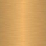 Borstad guld eller mässing som bakgrund Royaltyfria Foton