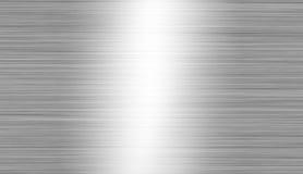 Borstad metall: stål- eller aluminiumtexturbakgrund Arkivfoto