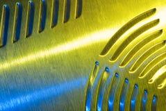 borstad metalltextur Fotografering för Bildbyråer